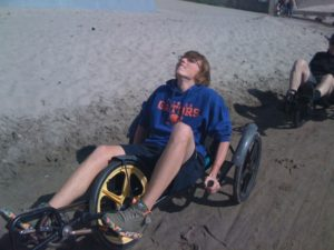 "Alex on his ""fun cycle"" at the Oregon coast (2010)"