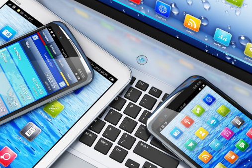 phones and laptops 166107706