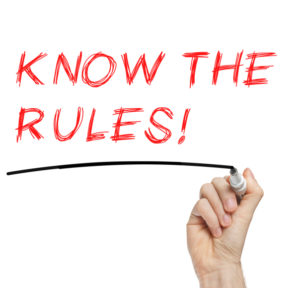 Know The Rules with red marker