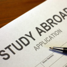 study abroad application document