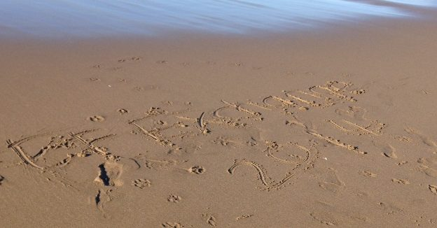 EF exchange 2014 on beach