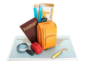 passport and knapsack