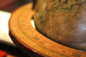 old fashioned globe partial view