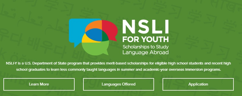 NSLI for youth scholarships to study abroad