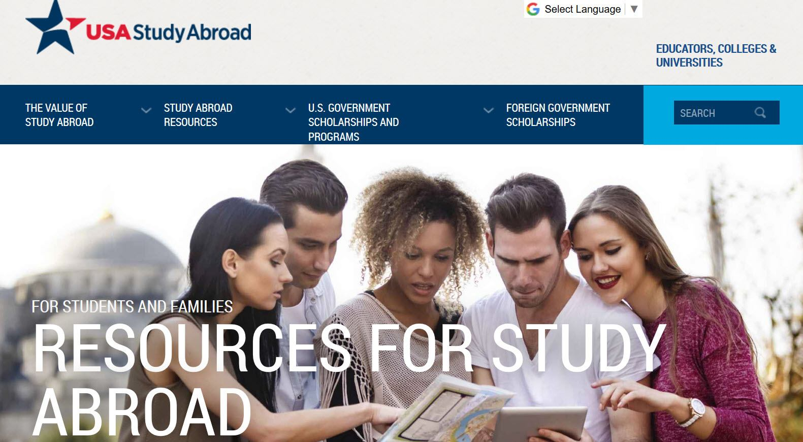 USA Study Abroad website