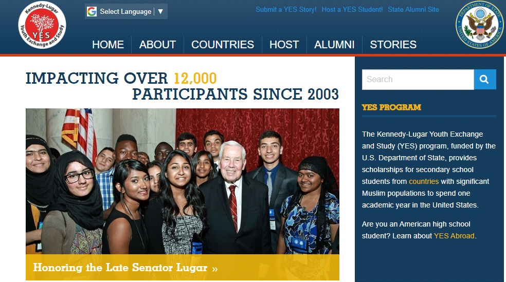 Kennedy-Lugar YES program website