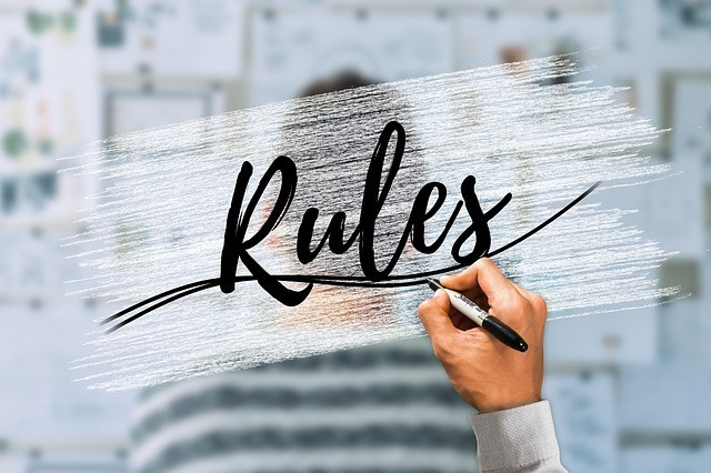 word rules in cursive