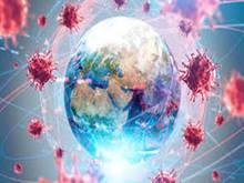 earth surrounded by virus