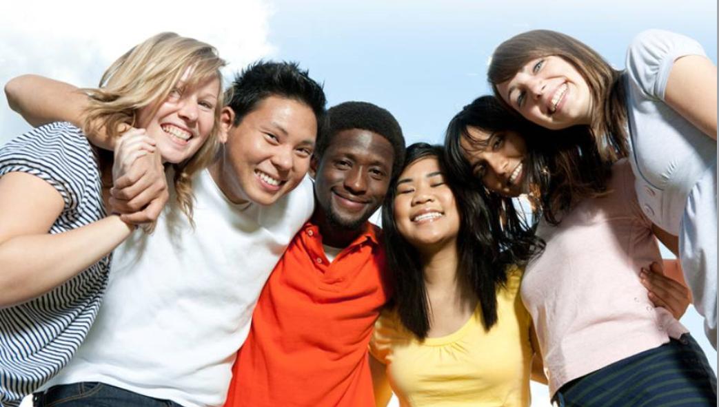 six teens smiling